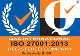 QAS International ISO 23001:2005 Registered Firm - Certificate no IT1097